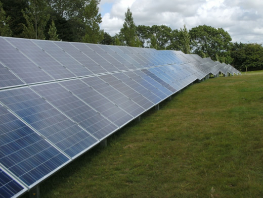 large scale solar PV system: Solar Park