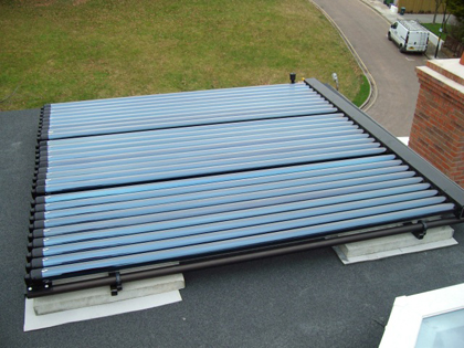 Solar Thermal on Domestic Flat Roof  in Surry - KT2 5AA