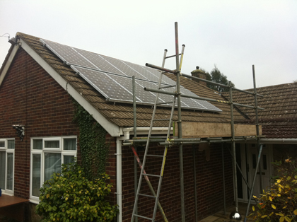 2.5KW Solar PV install near Brighton in  East sussex