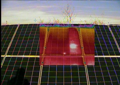 Solar PV diagnostic service with Thermal imaging camera