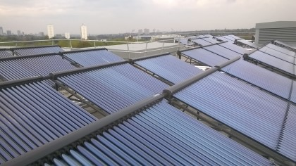 Large scale commercial solar thermal panels