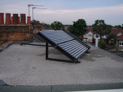 Domestic Solar Water Heating on Flat Roof