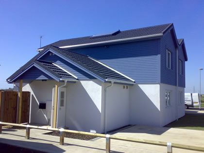 New house with Solar Heating Array
