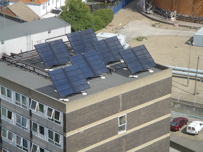 Solar Collectors on Tower Block