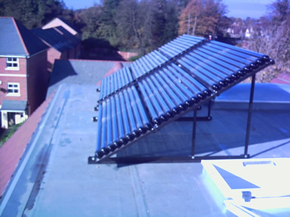 Solar Thermal Lazer panels on flat roof  near Eastbourne