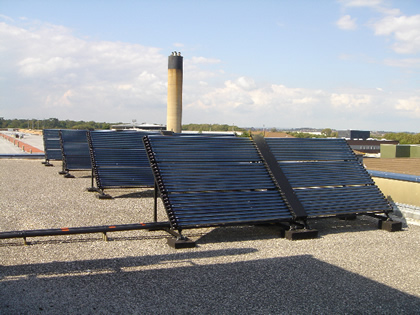 Solar Heating VacuumTubes - Flat Roof install Eastbourne