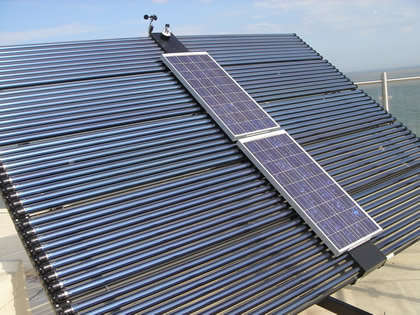 Solar PV mounted on Tracking Solar Collector